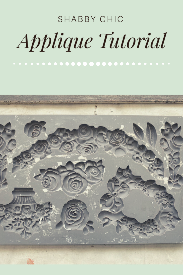Click the photo to be re-directed to the FREE Tutorial on how to DIY this Shabby Chic Applique! #DIY #ShabbyChic #Tutorial #Cheap #Easy