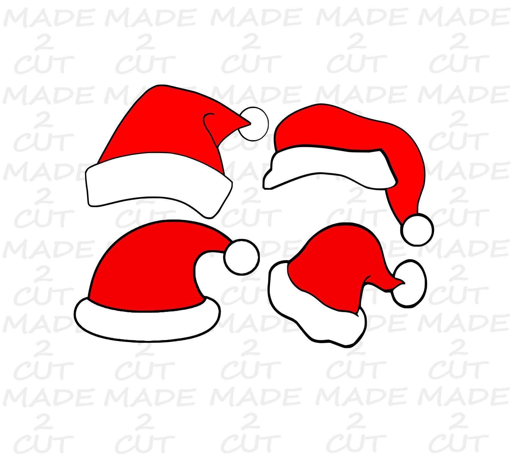 Santa Hat Svg Clip art Christmas SVG Silhouette Studio
