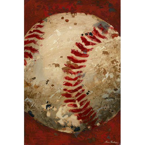 Vintage Baseball Canvas Reproduction Popular Artwork For Boys At Poshtots Baseball Wall Art Baseball Canvas Baseball Painting