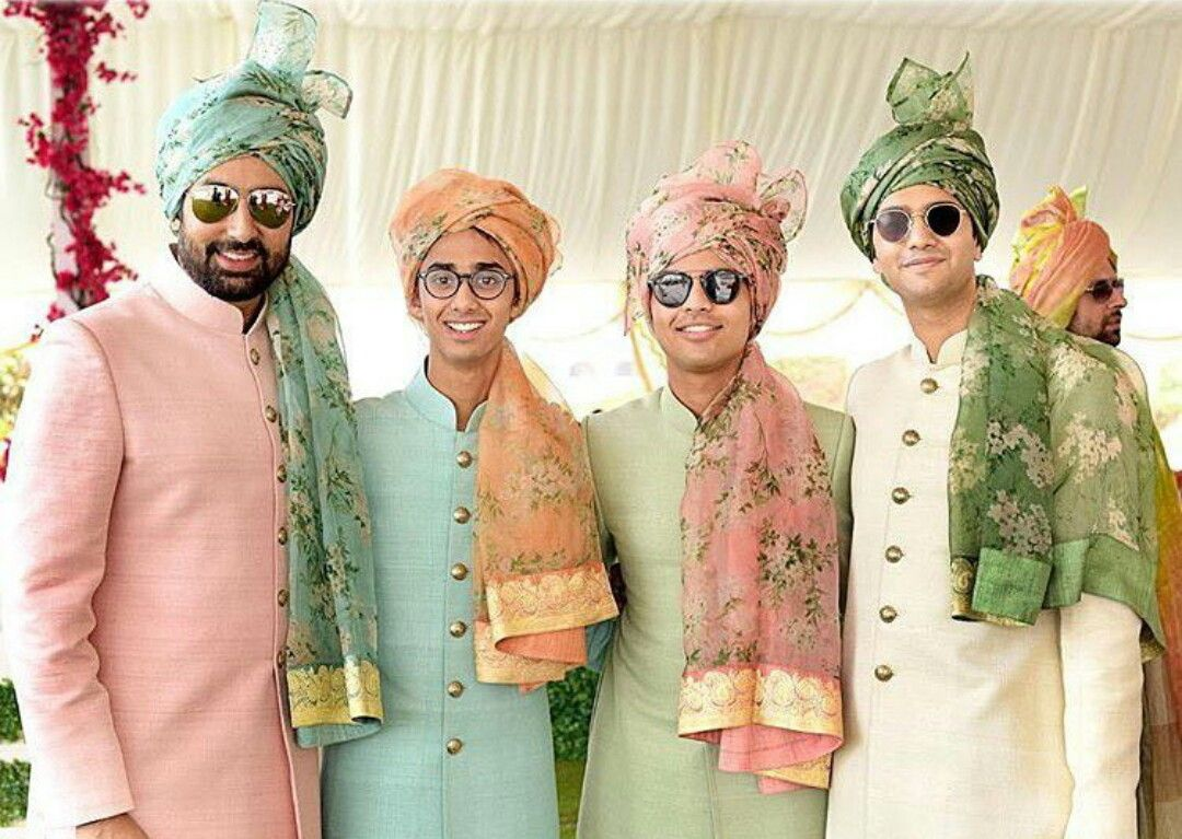 Beautiful indian pagdi for grooms friends wedding