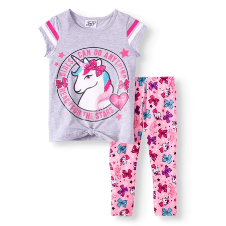 JoJo Siwa Unicorn Graphic Hoodie Top and Legging Girls 4-16 3-Piece Athleisure Outfit Set