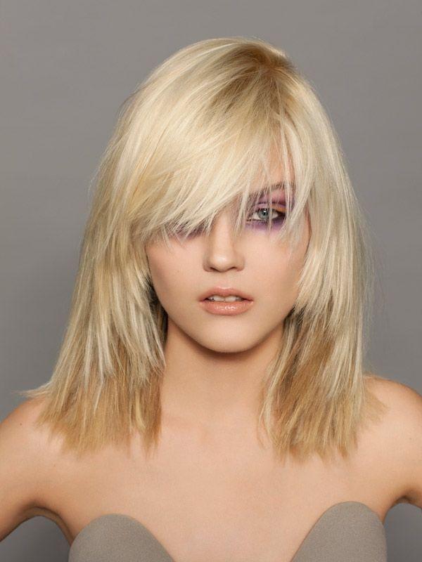 Favori Jolie coupe de cheveux mi-longue pour femme | Longue frange  JN97