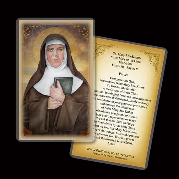 St. Mary MacKillop Holy Card (With images) Holy cards