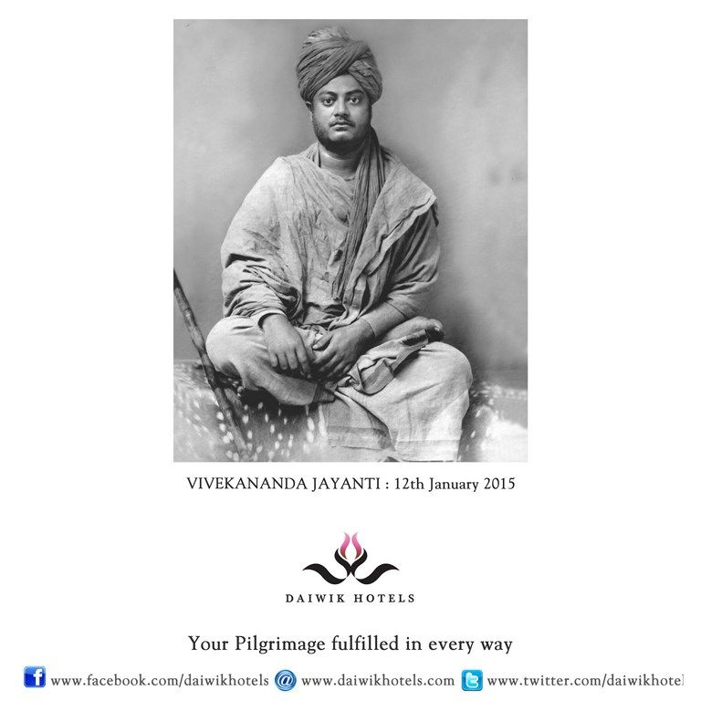 VIVEKANANDA JAYANTI. On this day Indians remember and