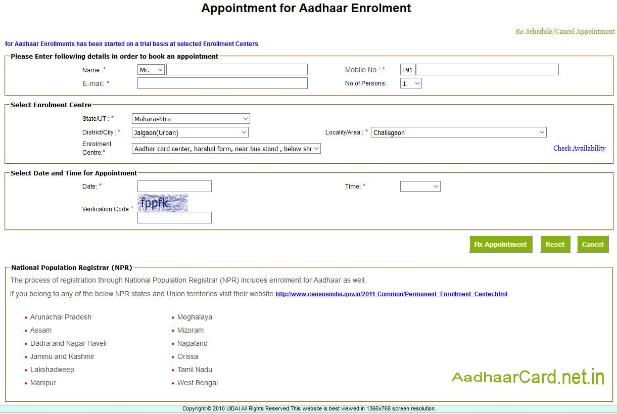 Apply Aadhaar Online Aadhar Card How To Apply Cards
