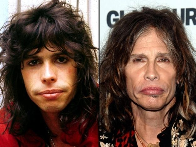 The Aging Of A Rock Star Steven Tyler Celebrities Then Now