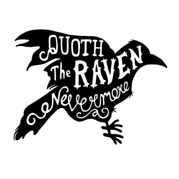 Quoth The Raven CharacterType Wall Decal Vinyl wall