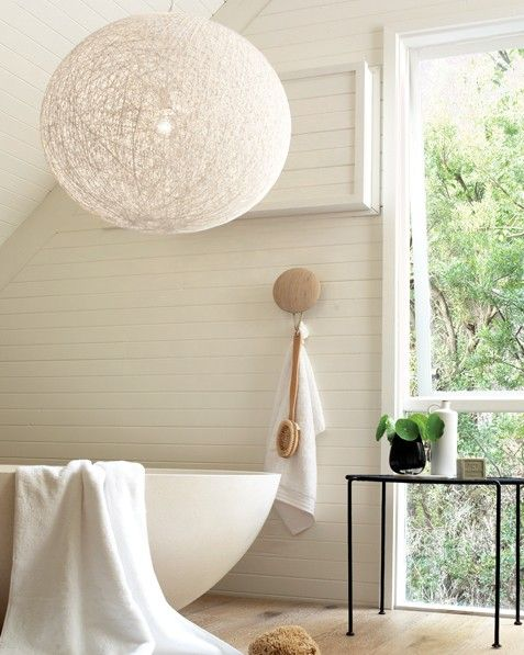 Habitat pendant in white beacon lighting