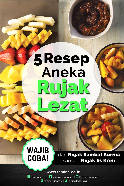 5 Resep Rujak Lezat Makanan Penutup Mini Resep Resep Makanan