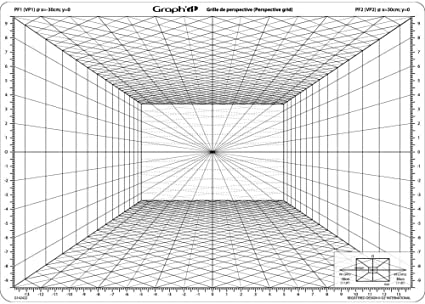 Amazon Com Graph It Perspective Grid Model C Front Perspection Office Products Architecture Drawing Art Perspective Perspective Drawing