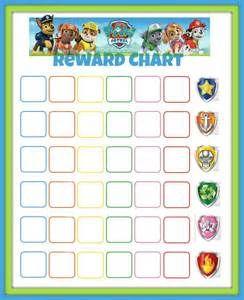 Paw patrol reward chart printable bing images learning ideas