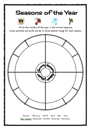 seasons of the year freebie classroom freebies worksheets and math. Black Bedroom Furniture Sets. Home Design Ideas