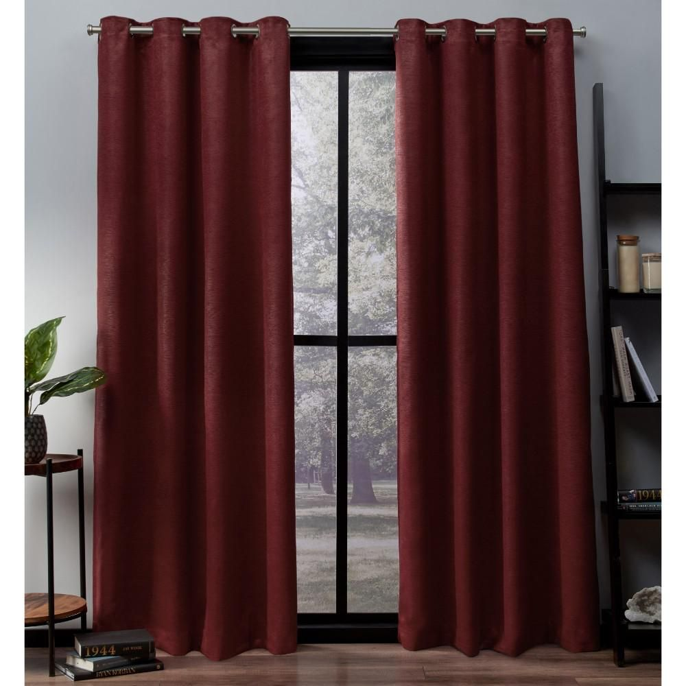 Oxford 52 In W X 63 In L Woven Blackout Grommet Top Curtain