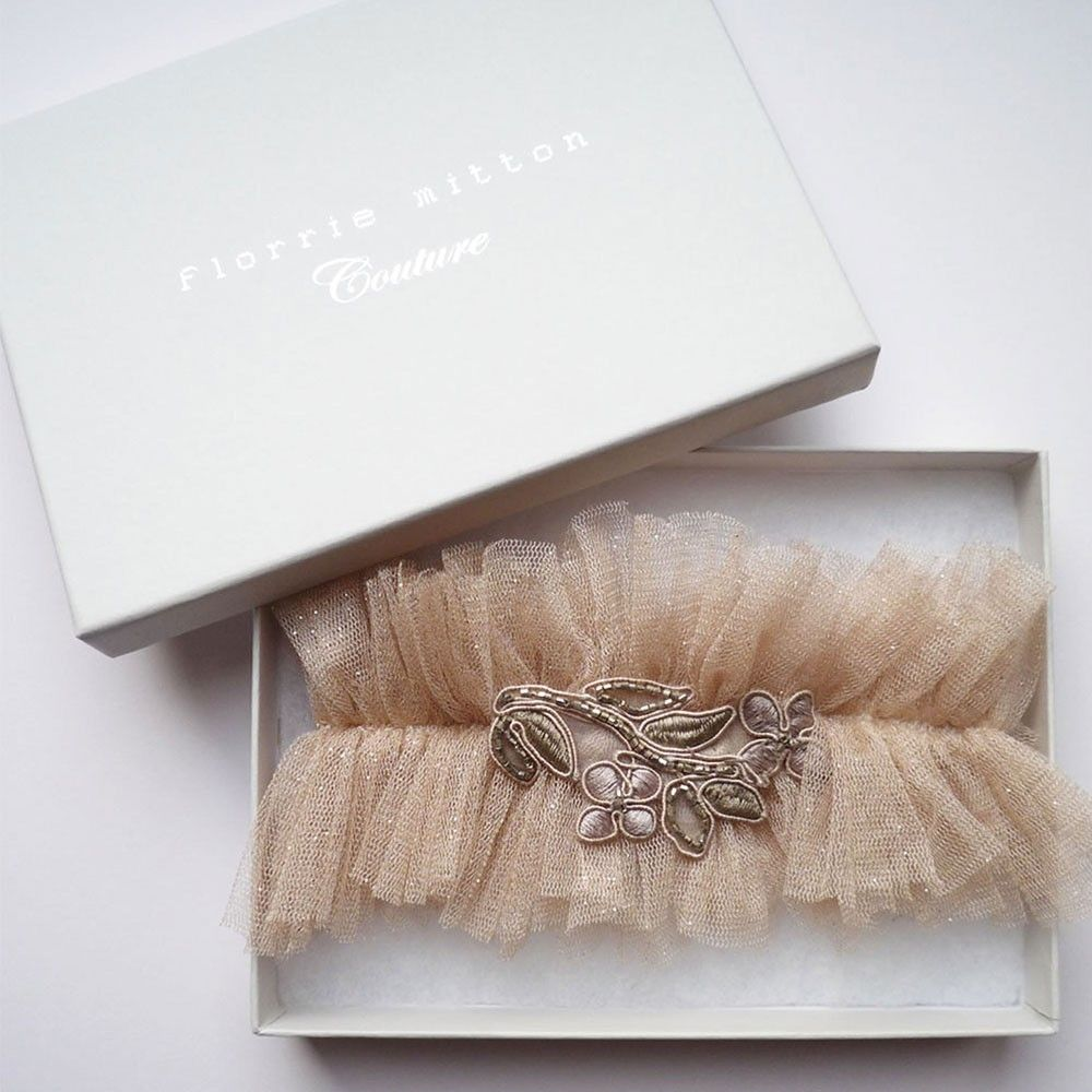 Glitterati designer wedding garter by Florrie Mitton ...