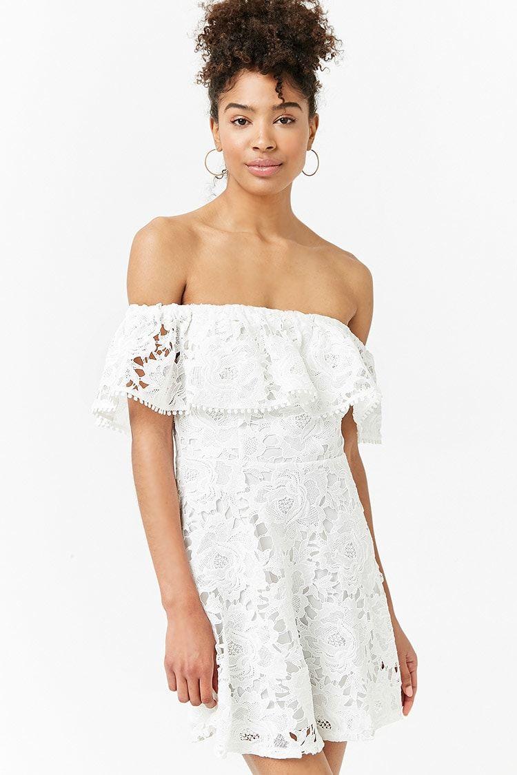 crochet mini dress | minikleid, kurzes blumenkleid