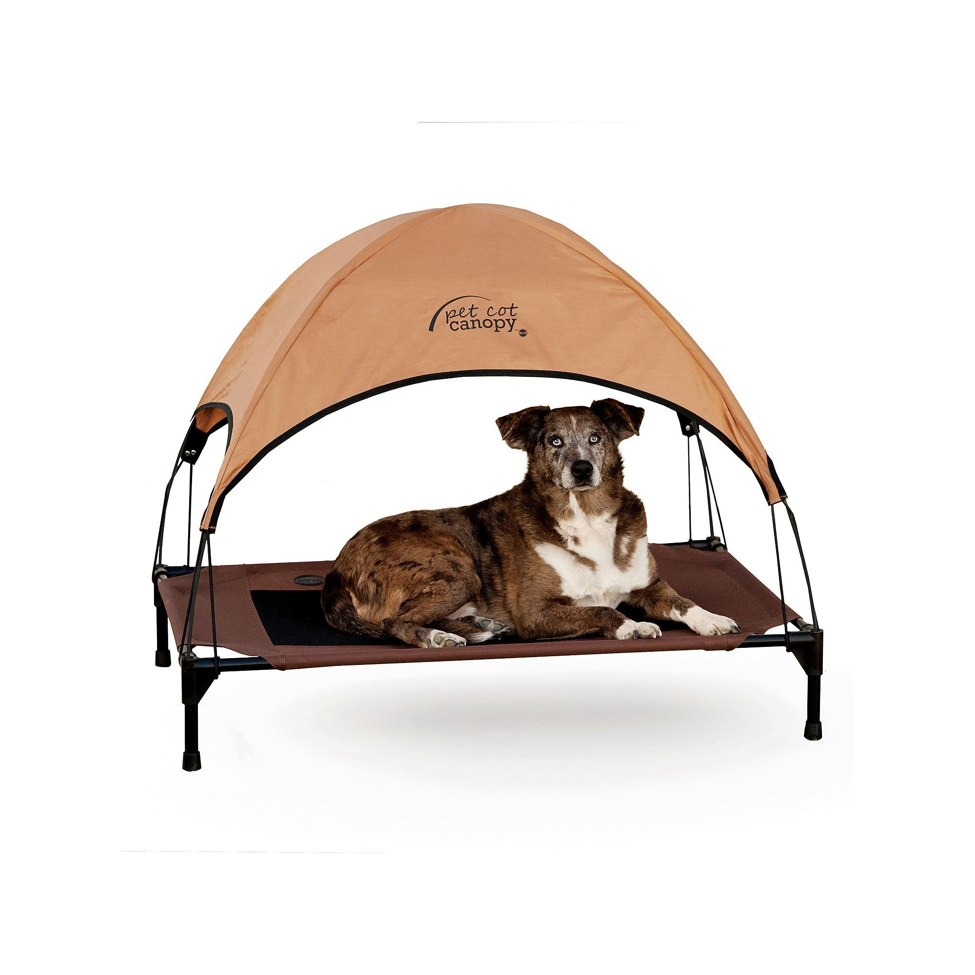 Ku0026H Large Tan Pet Cot Canopy Beig/Green (Beig/Khaki)  sc 1 st  Pinterest & Ku0026H Large Tan Pet Cot Canopy | Products | Pets Dogs Dog Bed