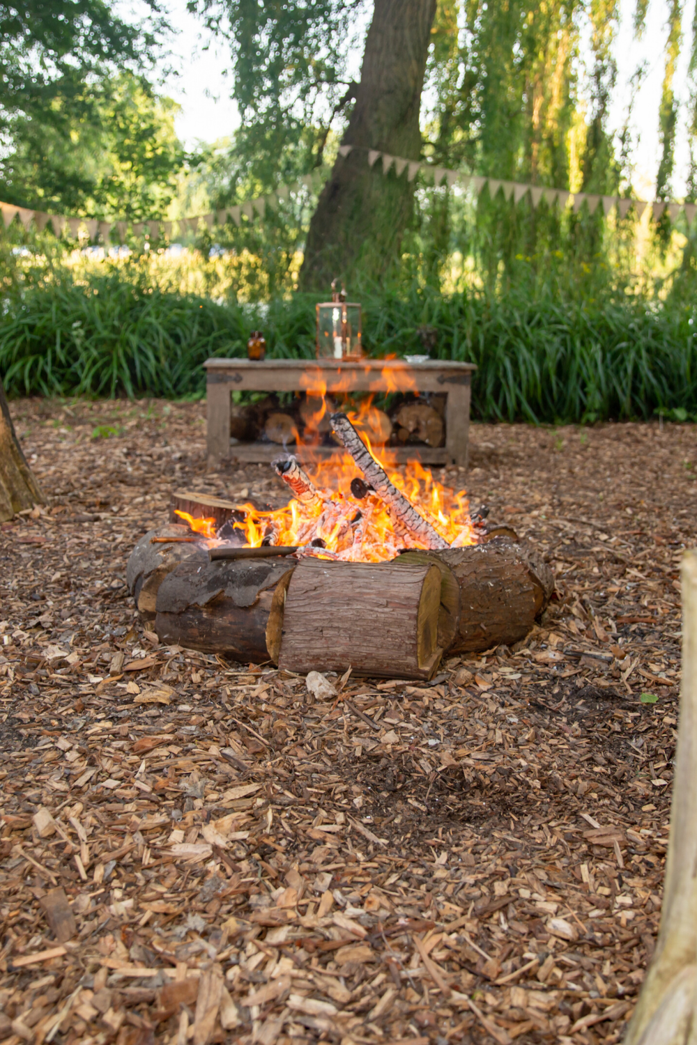 Our beautiful fire pit at the Secret River Garden. in 2020