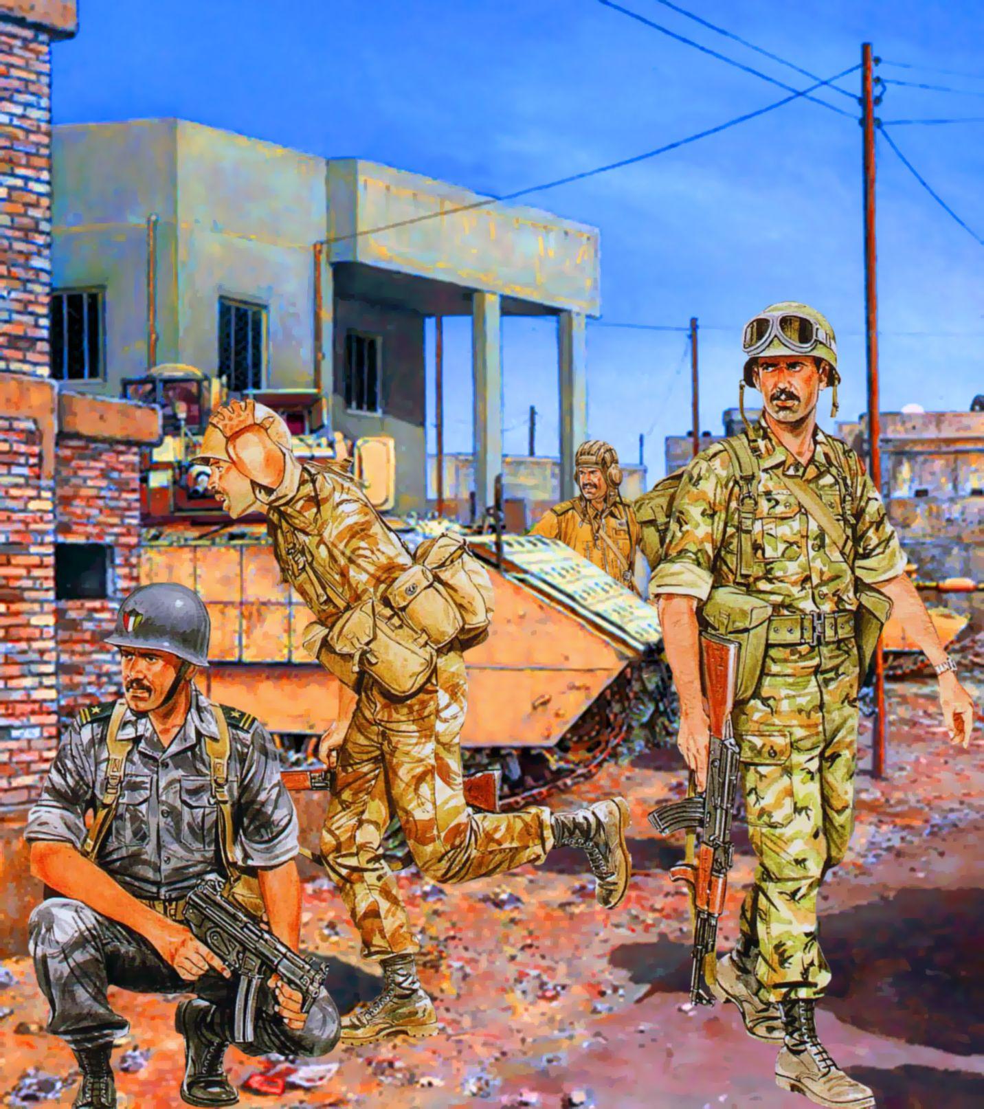Iraqi And Kuwaiti Troops During The First Gulf War