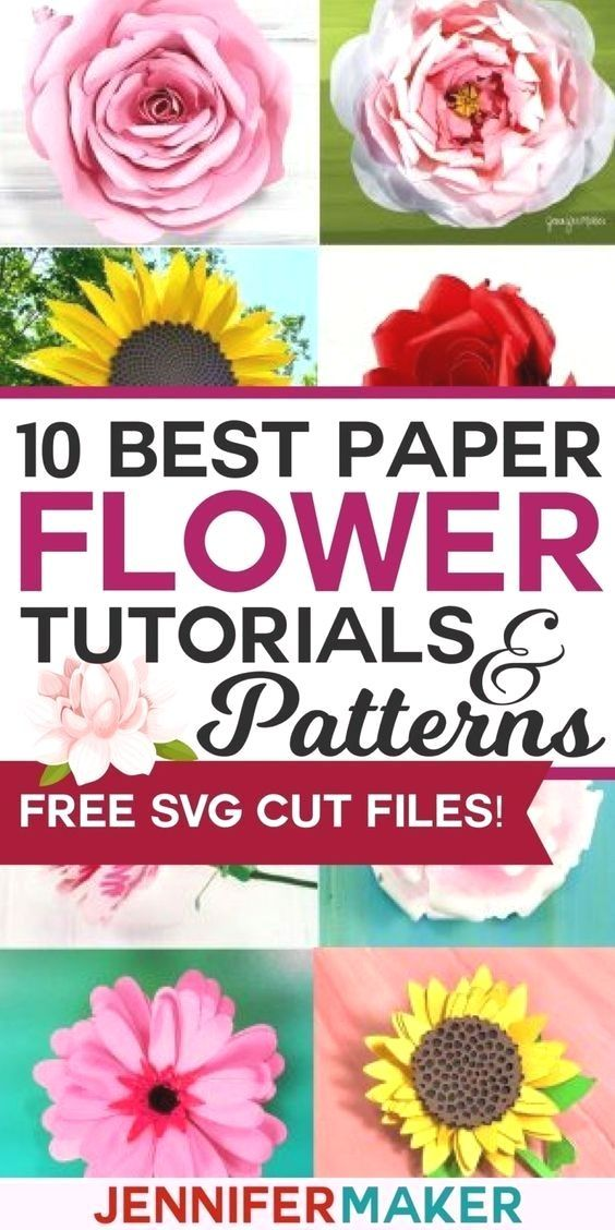 DIY paper flowers by designer Jennifer Maker, just like