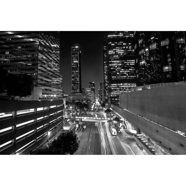 #craveLA :camera:by @_just_jeffrey #losangeles #explorela #dtla #lanight #nightime #photography #blackandwhite #photos #instagood #instaphoto