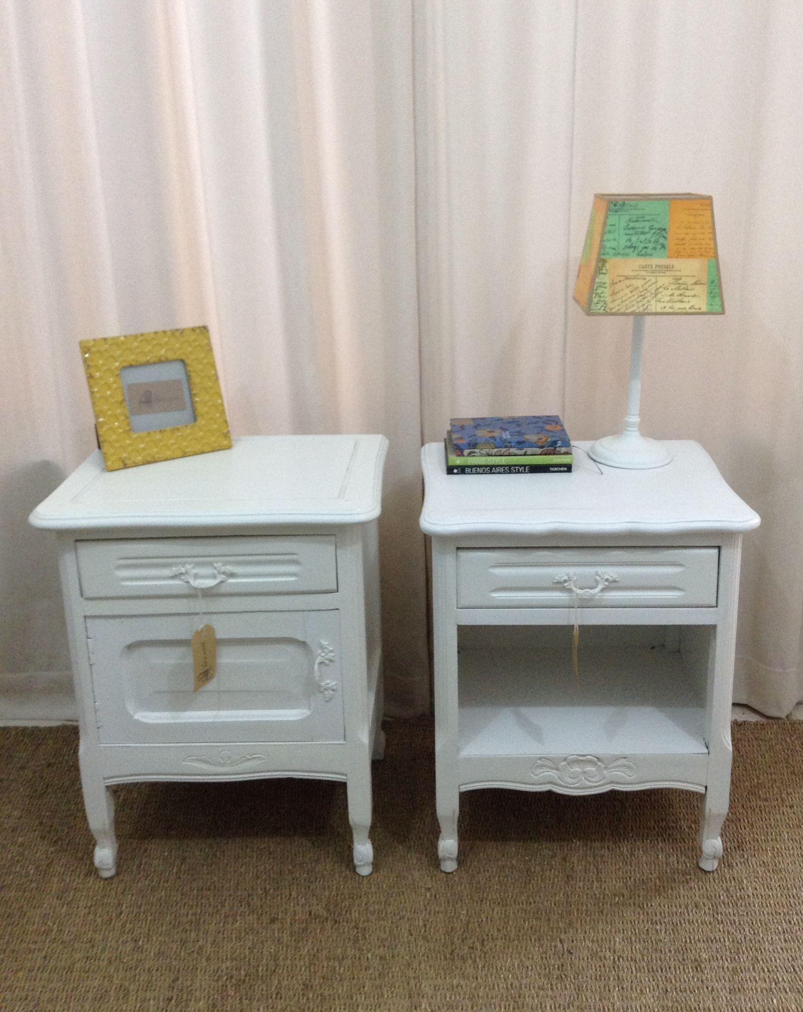 Mesas de luz antiguas restauradas muebles restaurados - Muebles restaurados vintage ...