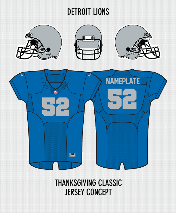 watch 36a28 cb7aa My Detroit Lions Thanksgiving Classic Jersey Concept ...