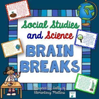 Science and Social Studies Brain Breaks Freebie   Science and Social Studies Brain Breaks Freebie SchoolBrain Breaks Ist es nicht schwierig sich mit Sozialwissenschaften...