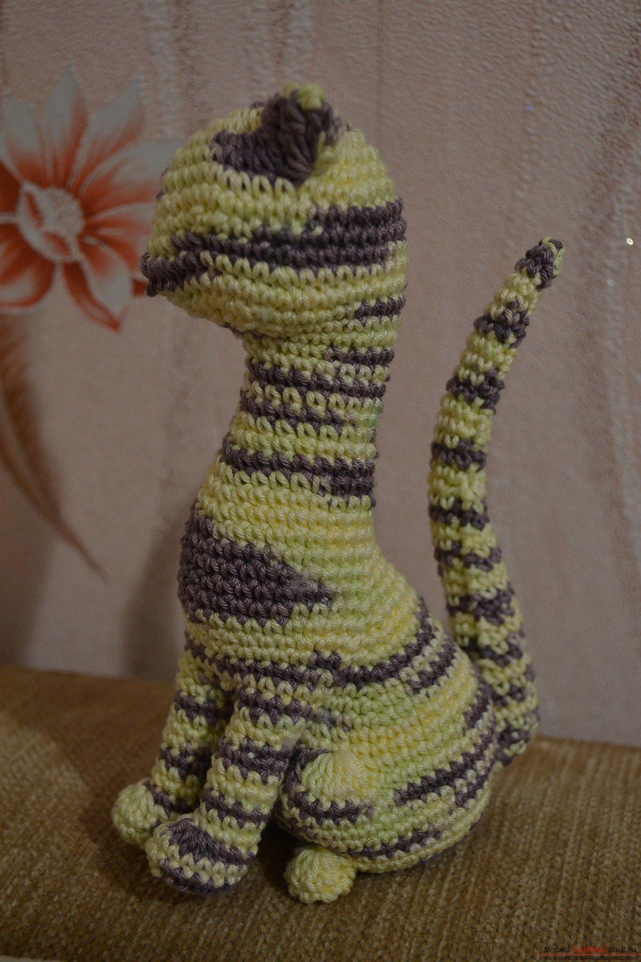 Вязание игрушек крючком - схема кошки | Вязаные крючком ...