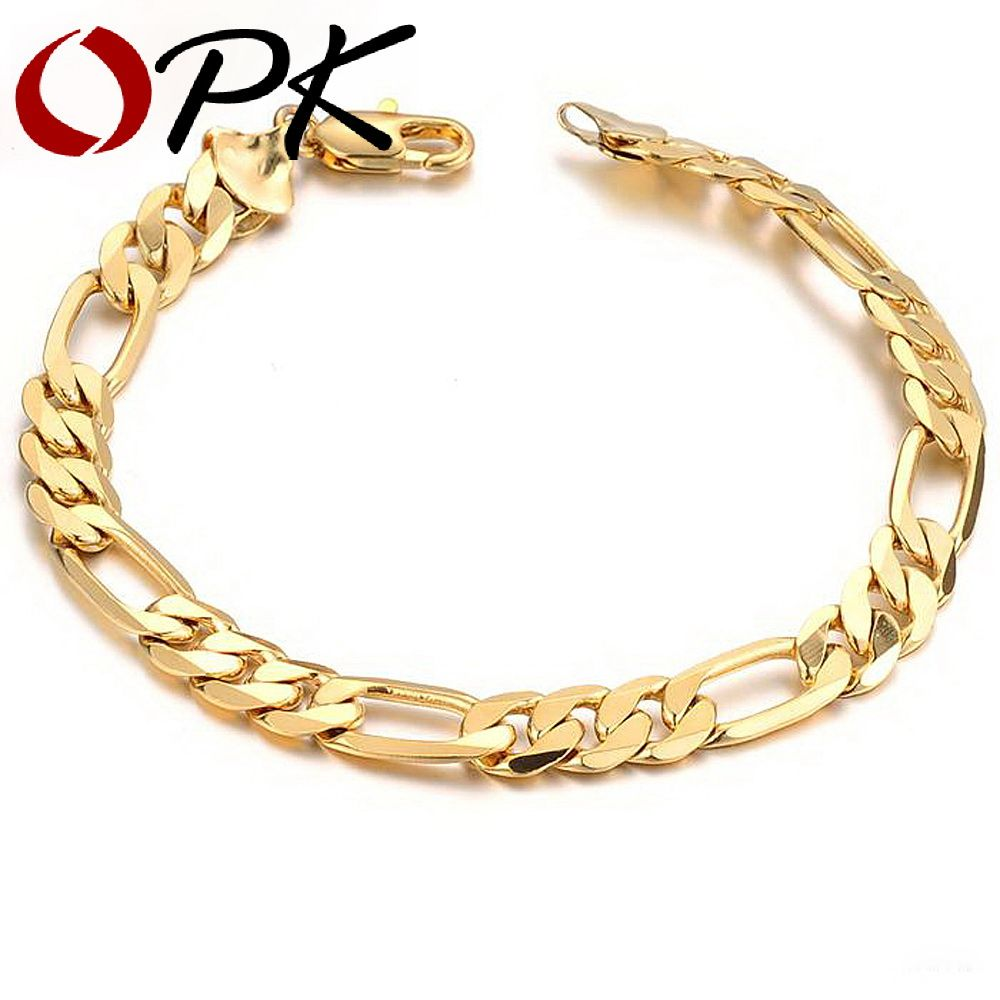Jewelry aliexpress hot sell classic vintage gold color figaro chain
