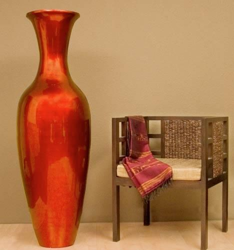 mahogany red large floor vase 595 momcave home