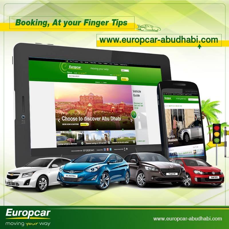 Booking At Your Finger Tips To Get Exclusive Rates Just Visit Us On Www Europcar Abudhabi Com Car Rental Abu Dhabi Best Car Rental