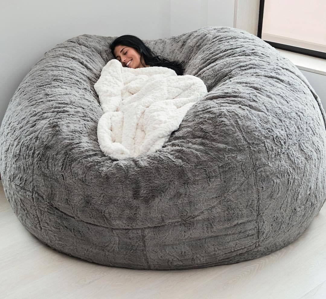 Chinchilla Phur Supersac Bean Bag Chair Living Room