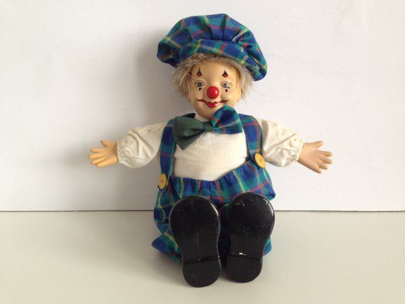 Porcelain clown doll - porcelain clown - Porcelain Clown Doll's