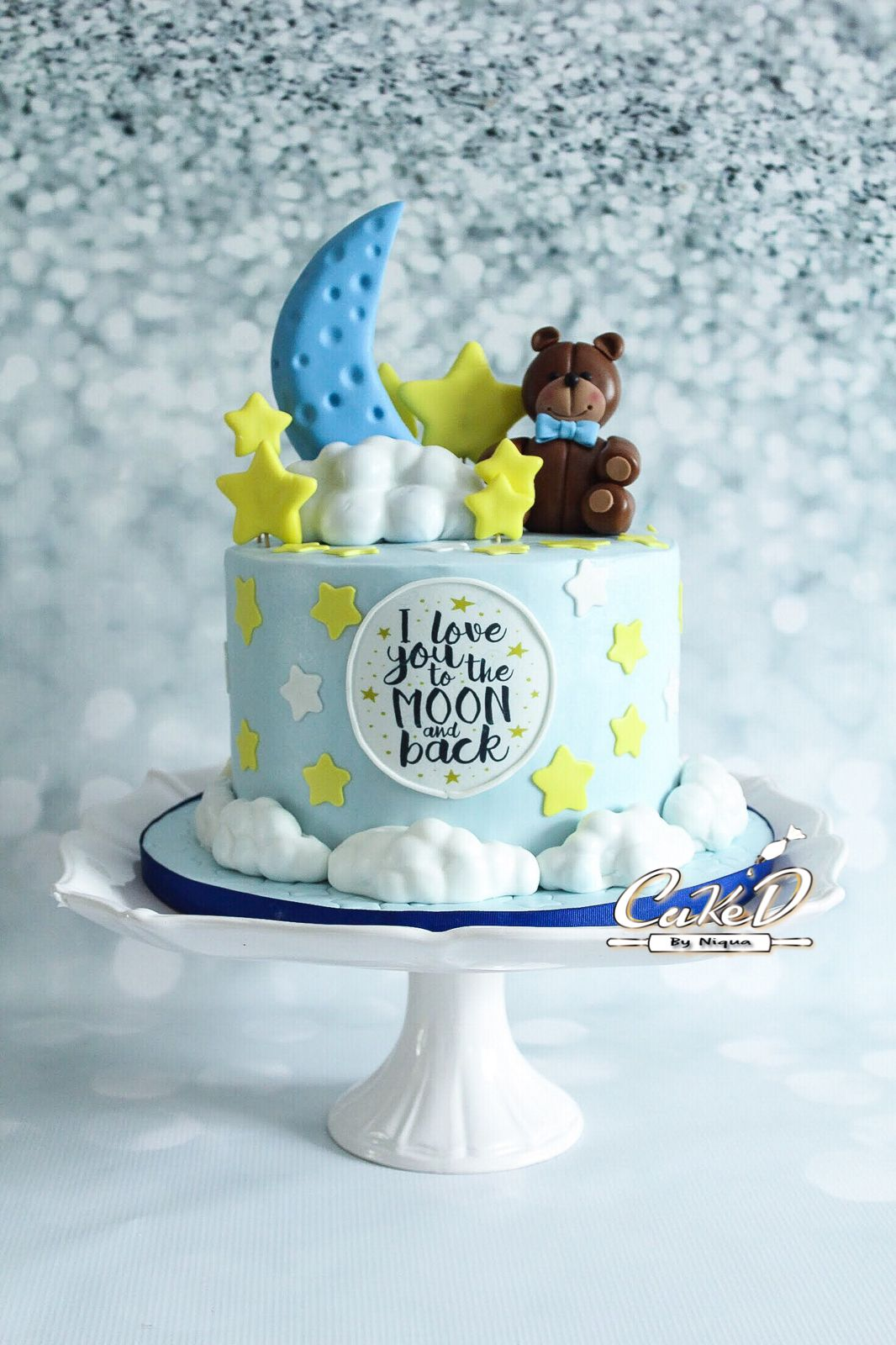 I Love You To The Moon And Back Baby Shower Cake With Images