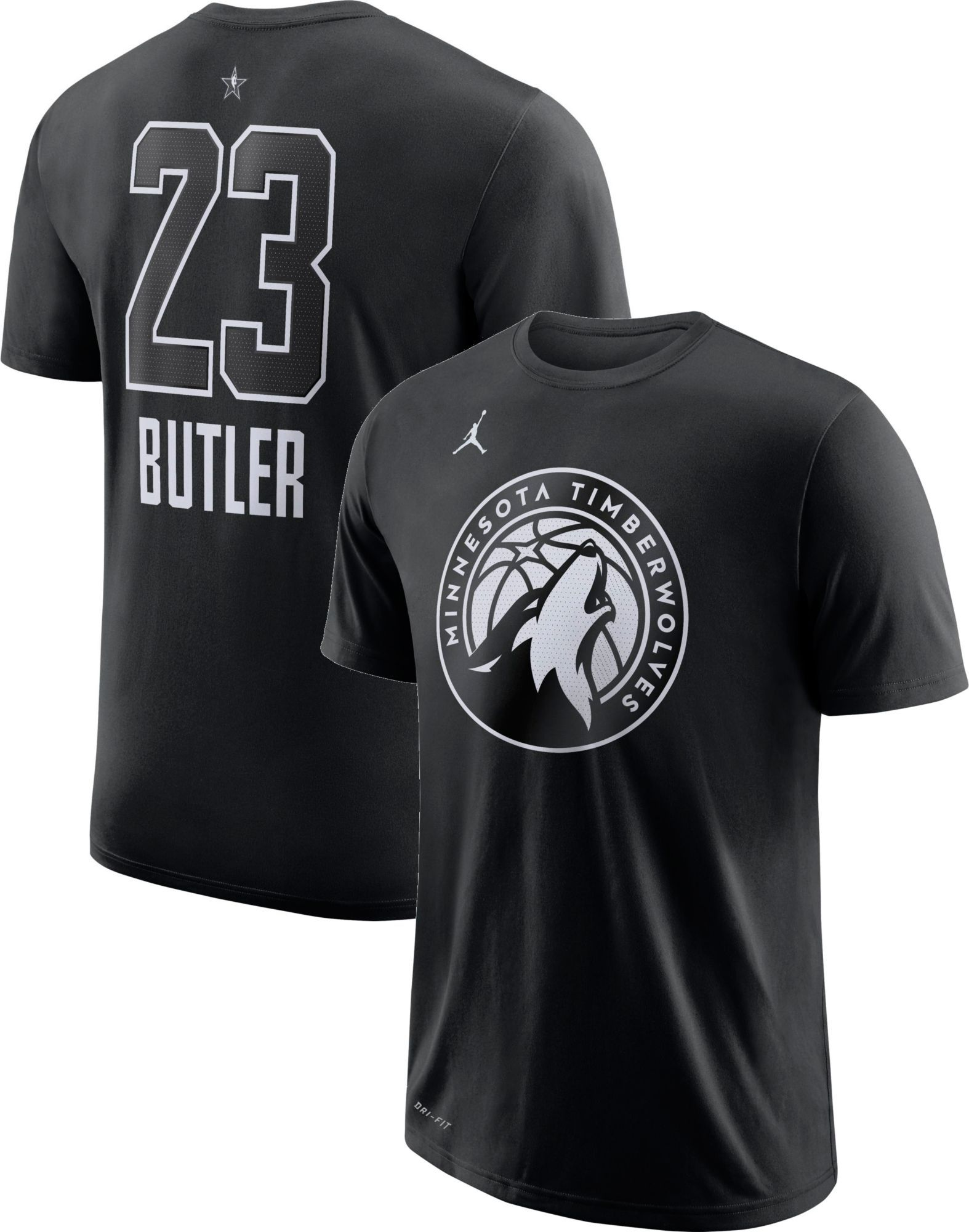 Jordan Men s 2018 NBA All-Star Game Jimmy Butler Dri-FIT Black T-Shirt f9e14bfb4