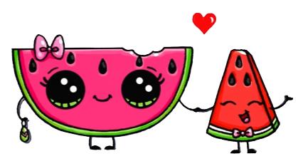 Watermelon Dibujos Kawaii Dibujos Kawaii Faciles Dibujos Kawaii De Animales
