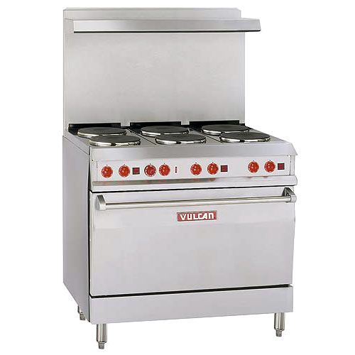 Vulcan 36 Quot Electric Commercial Restaurant Range 6 French