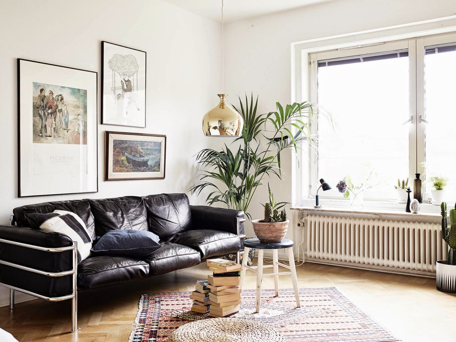 Big Couch Small Door A Small Space With A Big Personality Apartment Stuff Black