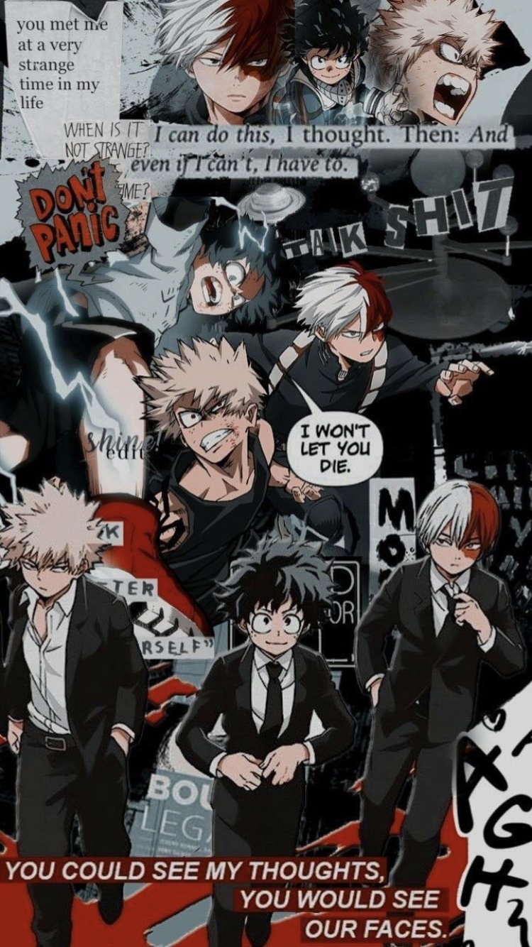 Bakugo X Deku X Todoroki Hero Wallpaper Cute Anime Wallpaper Cool Anime Wallpapers
