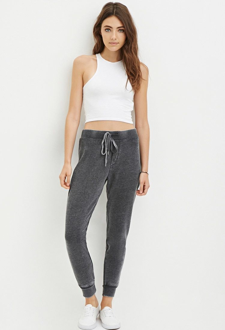 Faded Drawstring Sweatpants - Shop All - 2000180658 - Forever 21 EU English