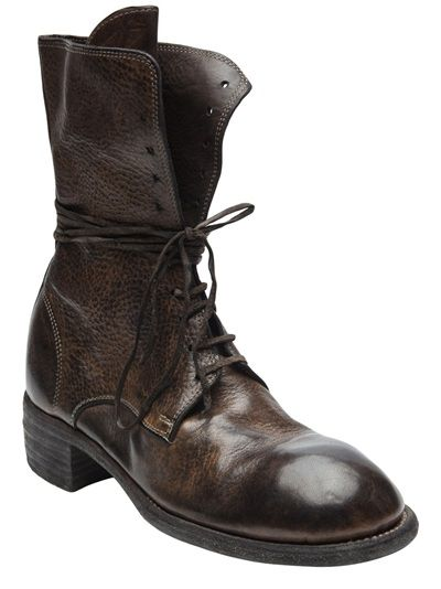 Guidi - distressed leather boot
