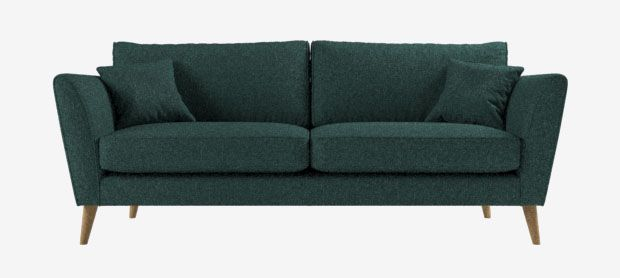 Cooper Large Sofa In Brisk Teal Fixed Covers Sofa Workshop With Images Cushions On Sofa Sofa Workshop Sofa Frame