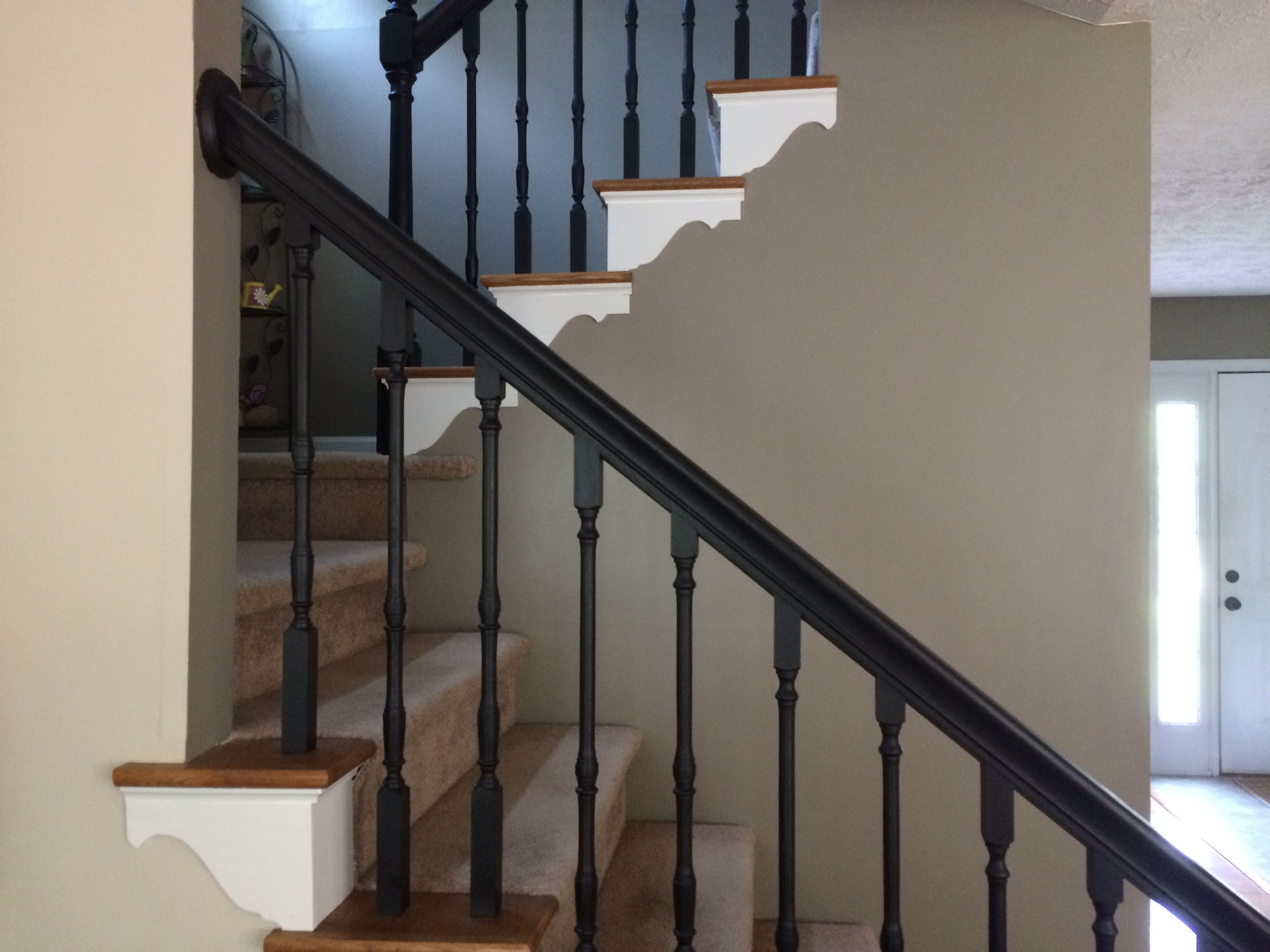 Best I Just Painted The Banister And Spindles Flat Black And 400 x 300