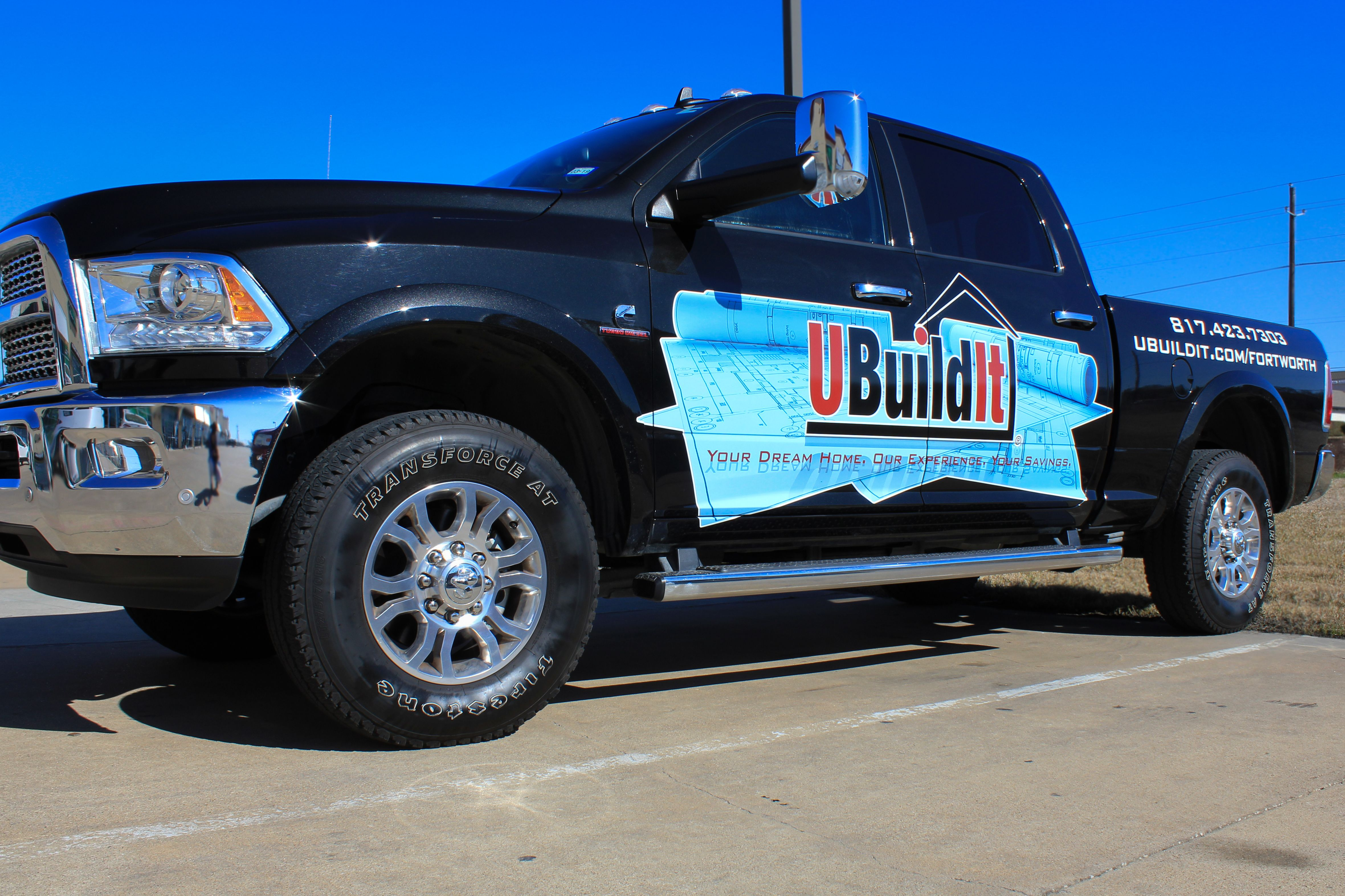 Truck Advertising For Home Builders Custom Home Building Or Home