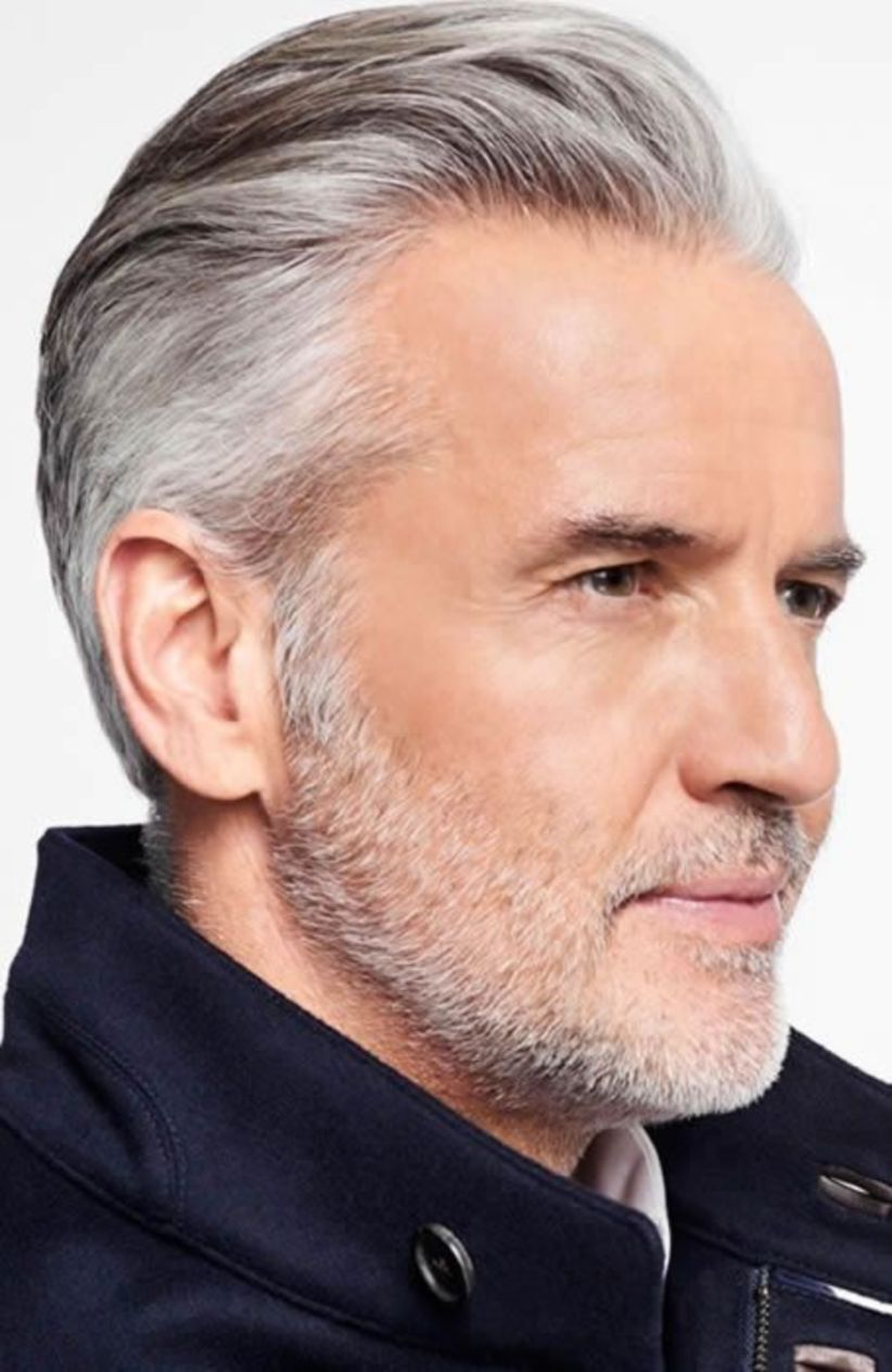 Pin By Robert Gallant On Hair Older Mens Hairstyles Hairstyles For Receding Hairline Grey Hair Men