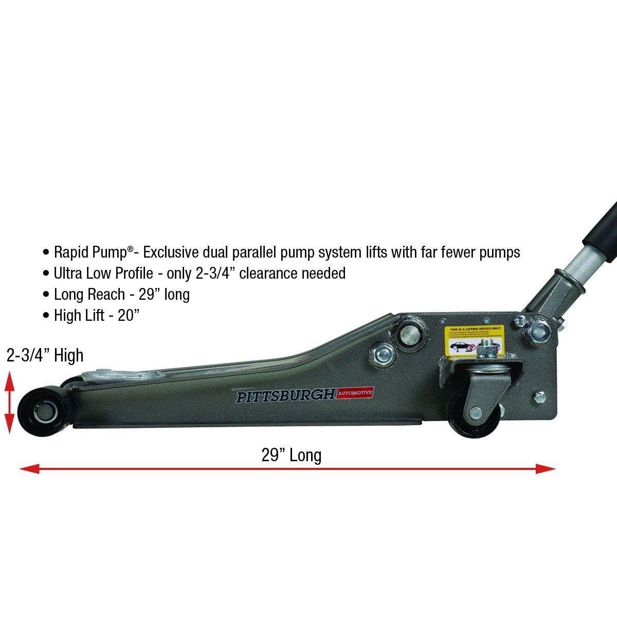 Low Profile Floor Jack with Rapid Pump®, 2.5 Ton Heavy