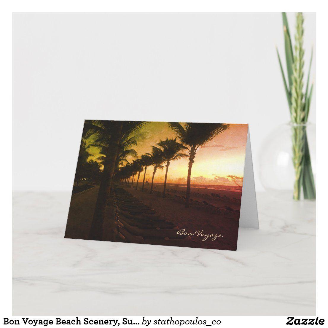 Palm Tree Bon Voyage Card