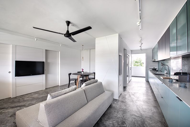 Hdb 4 Room Flat With An Open Concept Living And Kitchen Design By Artistroom Lookbox Living