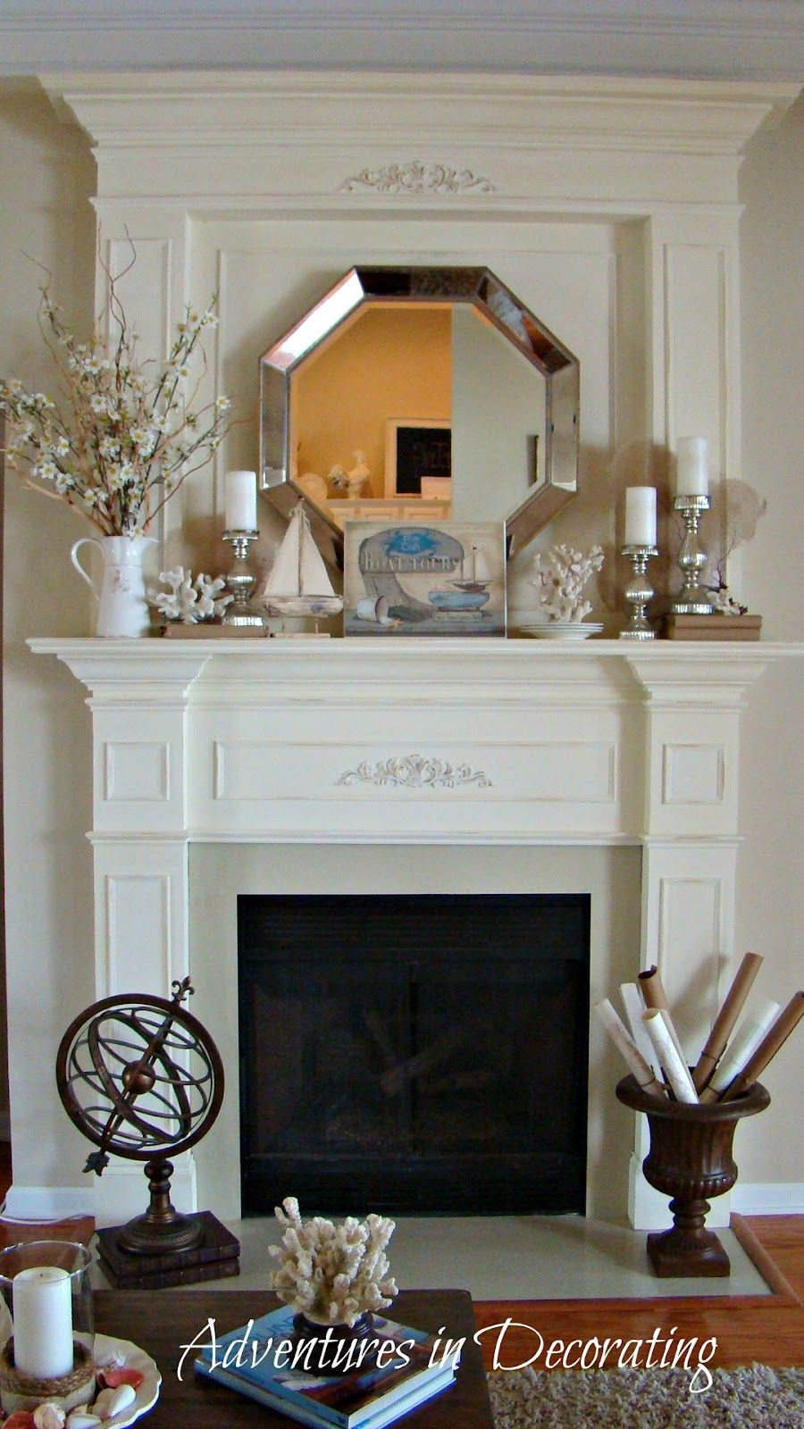 summer mantle Adventures in Decorating I like