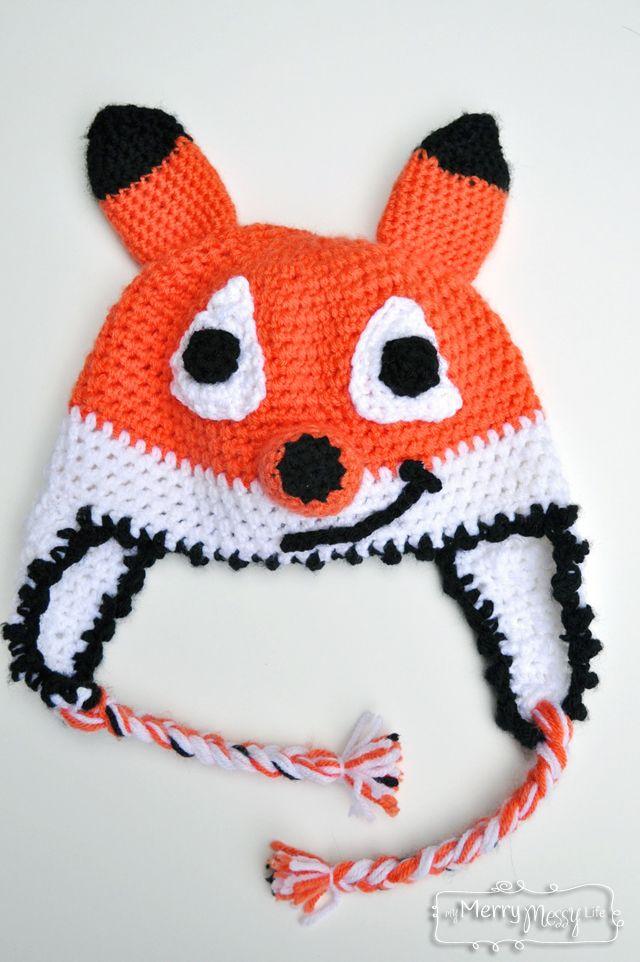 Crochet Fox Beanie - Free Crochet Pattern | Gorros, Gorro de crochet ...